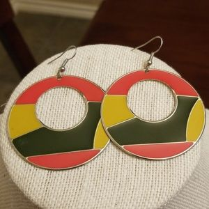 Vtg. Retro Metal Earrings